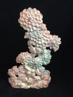 LVL Foundry Cast Iron Zinnia Flowers Doorstop-USA-Folk Art                 *3016 #LVLFoundry #Doorstop