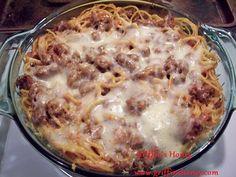 Baked Spaghetti- SUPER EASY Recipe