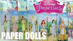 Disney Princess Magnetic fun Paper Dolls Mini Tin Ariel Rapunzel Belle Cinderella Dresses Toy - YouTube
