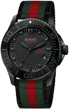 """"""" These watches Gucci G-Timeless Sport analog, but contains a Swiss quartz movement ETA."""""""