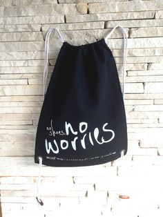 Items similar to EcoBag - No Shoes, No Worries on Etsy No Worries, Drawstring Backpack, Trending Outfits, Bags, Etsy, Clothes, Vintage, Shoes, Design