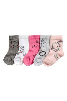 5 paria sukkia - Vaaleanroosa - Kids | H&M FI 1