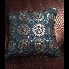 """Selling this """"Teal Throw Pillow"""" in my Poshmark closet! My username is: glennc. #shopmycloset #poshmark #fashion #shopping #style #forsale #Pier 1 #Other"""