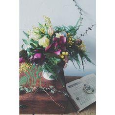 collaboration workshop with @andstill :  #english #garden #flowers #collage #art #antique #mimosa #ミモザ #クリスマスローズ 「イギリスの春の庭」と題しまして、第一回目のworkshopを開催しました。 植物とアートコラージュが合わさる事により、新たな世界観が生まれました。 花は出来るだけ、イギリスの庭でも実際に見られるものをご用意させて頂き、特にミモザはイギリスのみならず、ヨーロッパの春を象徴する花なので、より春らしさが表現出来たのではないかと思います。