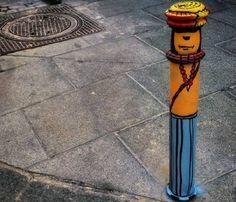 El arte urbano pinta de color el gris de una calle de Madrid