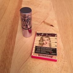 """Set of 2 Highlighters Benefit """"Watts Up"""" highlighted stick. The Balm Cosmetics """"Mary Lou Manizer"""" highlighter, shimmer, eyeshadow. Both have never been used. Sample sizes. Benefit Makeup Luminizer"""