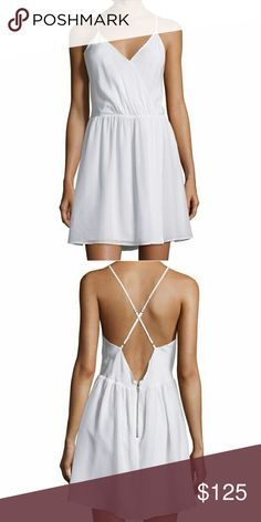 """NWT Alice + Olivia Renata Silk X-Back Dress Gorgeous lightweight flowy silk dress with fully adjustable straps and exposed zip detail. Cinched waist gives a sexy sophisticated look to any body type. 36"""" from shoulder to hem. 100% silk. Feel free to make an offer! Must have for spring and summer! Alice + Olivia Dresses"""