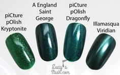of piCture pOlish Dragonfly by Lucy's Stash Galaxy Nails, Gradient Nails, Manicure Pictures, Picture Polish, Nail Envy, Shades Of Green, Nail Care, Pretty Nails, Swatch