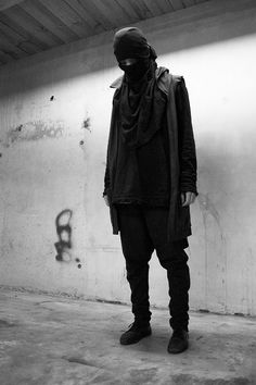 Looks like one of Ann Demeulemeester or Rick Owens. I don't even know.