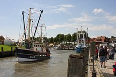 Kutter am Hafen von Tönning in der Nähe von St. Peter-Ording. Besucht uns doch einmal! Mehr Infos unter www.toenning.de