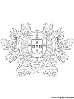 Portugal Flag Coloring Pages Inspirational Portugal Coat Of Arms Coloring Page Web Colors, Flag Colors, Ecuador Flag, Harry Potter Coloring Pages, Flag Drawing, Portugal Flag, Flag Coloring Pages, Coloring Pages Inspirational, Hogwarts Crest