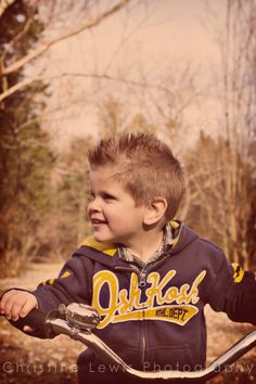 Little boy playing on his bike. Photo shoot in Chattanooga, TN Little Boy Photography, Photography Ideas, Christine Lewis, 3 Year Old Boy, Bike Photo, Boys Playing, 11th Birthday, Old Boys, Little Boys