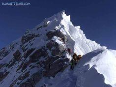 #Climbers on the balcony moving up towards the #Hillarystep. Photo by Fabrice Imparato  www.EverestNepalExpedition.com #Everest #SummitClimb #Mountain