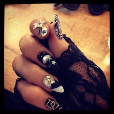 Neon Hitch..Your nail art goes hard! I love it!