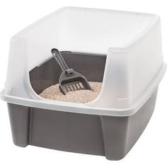 Clean Pet Cat Kitty Open Top Large Cats Litter Box with Shield and Scoop for sale online Jumbo Litter Box, Best Litter Box, Outdoor Cat Cage, Outdoor Cats, Ben Und Jerry, Cat Litter Box Enclosure, Cat Toilet Training, Litter Box Covers, Litter Pan