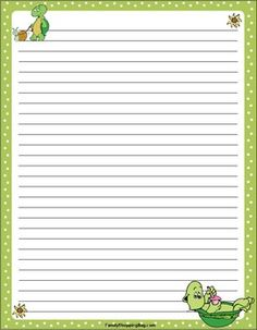 {Free} Printable Turtle Stationery