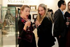 Ella Worth of Red Tiki and Marcia Ball of Style Voyeur. Find out more about The Story of Professor Jimmy Choo OBE Exhibition on the Claremont Quarter blog http://www.claremontquarter.com.au/blog/features/exhibition-the-story-of-professor-jimmy-choo-obe#.U-SP34CSymQ. View the full gallery on Facebook https://www.facebook.com/media/set/?set=a.10152577822784019.1073741842.131345344018&type=3 #ProfessorJimmyChooAtCQ #JimmyChooCouture #style