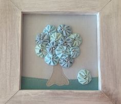 Yo Yo's...would be darling to do seasonal trees in re-purposed garage-sale, or thrift store frames. Cute!