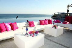 An outdoor hookah lounge for guests - WAY cool