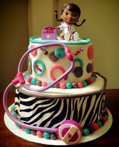 Super cute Doc McStuffins cake by Mandi  Cakes