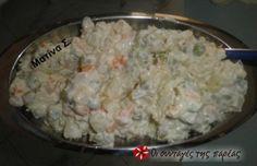 Ρώσικη σαλάτα η αυθεντική Snack Recipes, Snacks, Finger Foods, Grains, Appetizers, Rice, Snack Mix Recipes, Appetizer Recipes, Finger Food