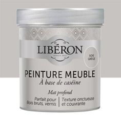 Peinture pour meuble, objet et porte, mat, LIBERON, Caséine, soie grège 0,5L | Leroy Merlin