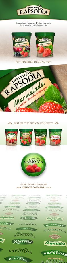 Rapsodia - Marmalade Packaging Design Concept I worked on for a popular Polish…