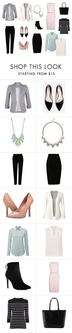 """Work Wardrobe Essentials"" by bncollege on Polyvore featuring Miss Selfridge, MANGO, New Directions, Sole Society, River Island, Charles by Charles David, LE3NO, Pure Collection, Elie Tahari and Charles David"