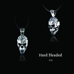 "ECKS ""Hard Headed"" men's sterling silver skull pendant. #ECKS #hardheaded #mensjewelry #skull #skullpendant #sterlingsilver #atphoenixjewellers"