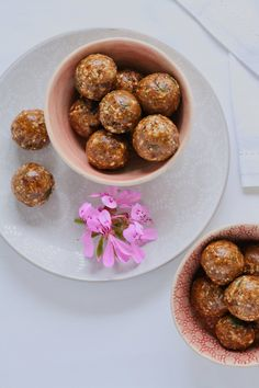 Power up with these healthy chocolate and nut energy balls.