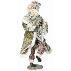 Regency International Standing Wintergreen Santa Figurine