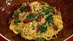 Mario Batali & Michael Symon's Goat Cheese Pasta with Sweet  and Spicy Peppers