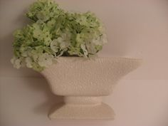 Vintage White Textured Oblong Footed Vase by InVintageFashion, $6.00