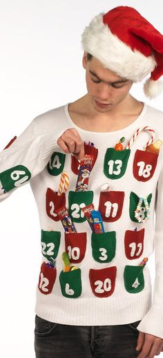 Ugly Christmas Sweater Ideas - Reasons To Skip The Housework Advent Calendar Sweater: If you are attending an ugly Christmas sweater party this year, we have got you covered! Here are 25 Ugly Christmas Sweater Ideas for you to use as inspiration. Ugly Christmas Jumpers, Tacky Christmas Party, Diy Ugly Christmas Sweater, Ugly Sweater Party, Christmas Costumes, Diy Christmas Sweaters, Ugly Sweaters Diy, Christmas Outfits, Ugly Sweater Funny