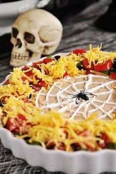 2015 Halloween food recipes with cheese and spider web - LoveItSoMuch.com