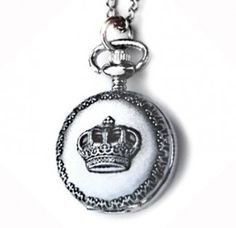 crown pocket watch necklace