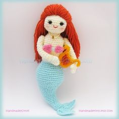Mermaid Jenny under the sea Amigurumi PDF Crochet by handmadekitty, $4.99