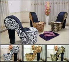 High Heeled Shoe Seating For The Girly Rooms In The House.