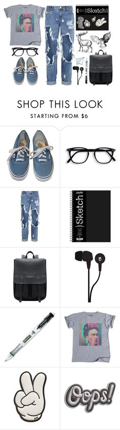 """A whole new world"" by walkeralexzandreia ❤ liked on Polyvore featuring Vans, OneTeaspoon, Bamford, Skullcandy, Paper Mate and Anya Hindmarch"