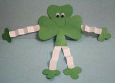 Paper Shamrock Guys-kids club craft