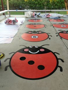 Another pic from the great playground project in Australia.  These ladybugs are so cute!!!!