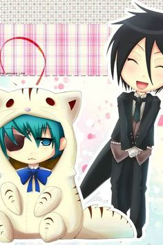 Black Butler Ciel is so cute! and Sebastian can barely contain his inner…
