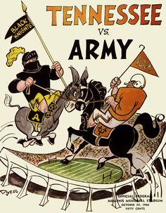 1966 Tennessee Volunteers vs Army Black Knights 36 x 48 Canvas Historic Football Poster Army Football, Sport Football, College Football, Tennessee Volunteers Football, Tennessee Football, Football Images, Football Posters, United States Military Academy, Sports Art