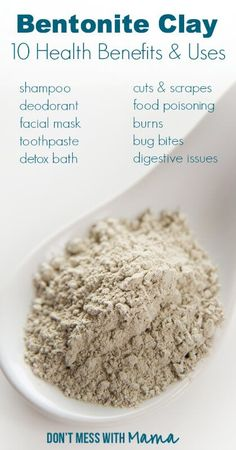 10 Uses for Bentonite Clay at Home – Health Benefits of Bentonite Clay - Mundpflegeprodukte - Mundpflege-Tipps Health And Beauty, Health And Wellness, Health Tips, Healthy Beauty, Natural Cures, Natural Healing, Natural Beauty, Pure Beauty, Uses For Bentonite Clay