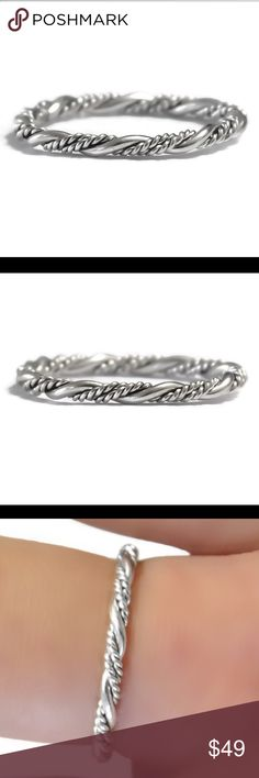 925 Sterling Silver Braided/Woven Ring Brand new with tags, solid 925 sterling silver weave ring. Available in any size 2-13. Handcrafted, made to order.  Posh rules only No paypal No lowballing  PRICE FIRM UNLESS BUNDLED.  I'm a suggested user and party host, posh ambassador, posh mentor, and Im five star rated so buy with confidence! H A P P Y P O S H I N G 🖤⭐️🖤⭐️🖤⭐️🖤⭐️🖤⭐️🖤⭐️🖤 new england jewelry designs Jewelry Rings