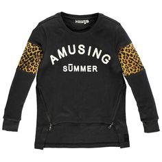 Tumble 'N Dry Mädchen Langarmshirt Ashley mit Leoparden-Print