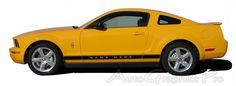 "2005 - 2009 Ford Mustang ""WILDSTANG ROCKER 2"" Factory OEM Style Lower Rocker Stripes Vinyl Decal Graphics"