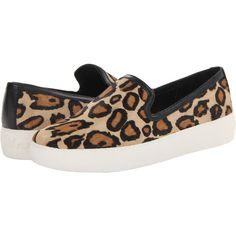 Sam Edelman Becker ($80) ❤ liked on Polyvore featuring shoes, leopard, sneakers & athletic shoes, leopard slip-on shoes, leopard print slip-on shoes, pull on shoes, platform shoes and leopard shoes