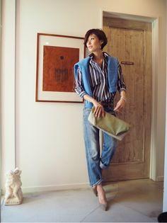 スタイリングは の画像|田丸麻紀オフィシャルブログ Powered by Ameba Japanese Models, Street Style Women, Her Style, Cool Outfits, Denim, Lady, Womens Fashion, Casual, Clothes