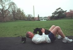 George Bush and Barney share a moment on the White House lawn: | The 42 Best Photos Ever Taken Of White House Pets